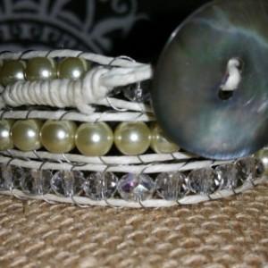 White wrap bracelet