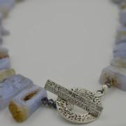 chalcedony statement necklace