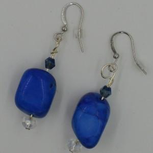 Lapis Howlite Earrings