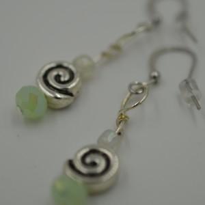 Fluorite Zen Swirl Earrings