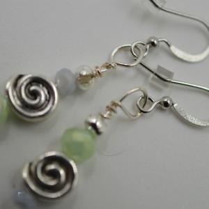 Zen Swirl Asymetrical Earringsg