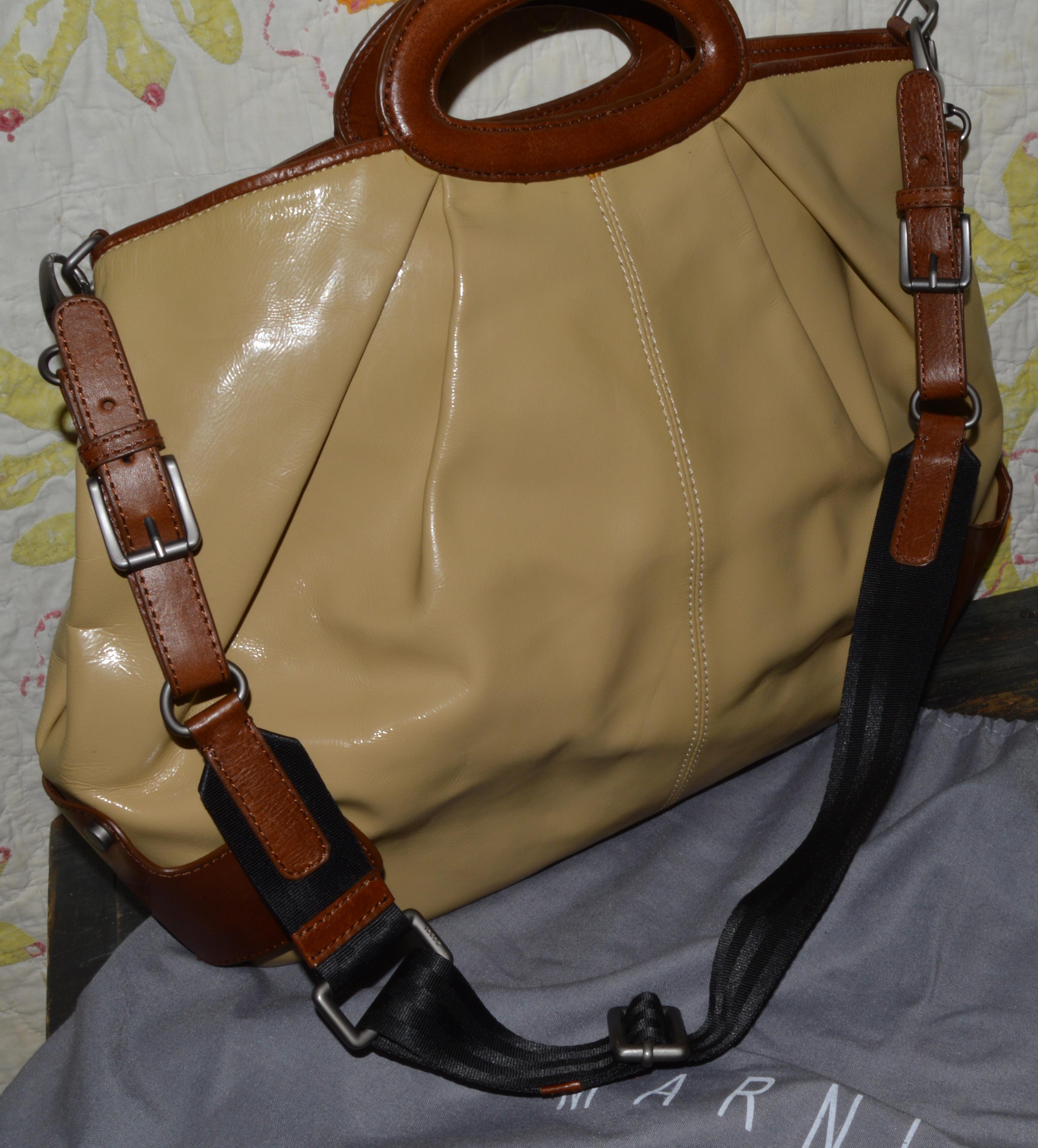 5efada1465b Marni Patent Leather Balloon Bag with Sleeper   stellascloset