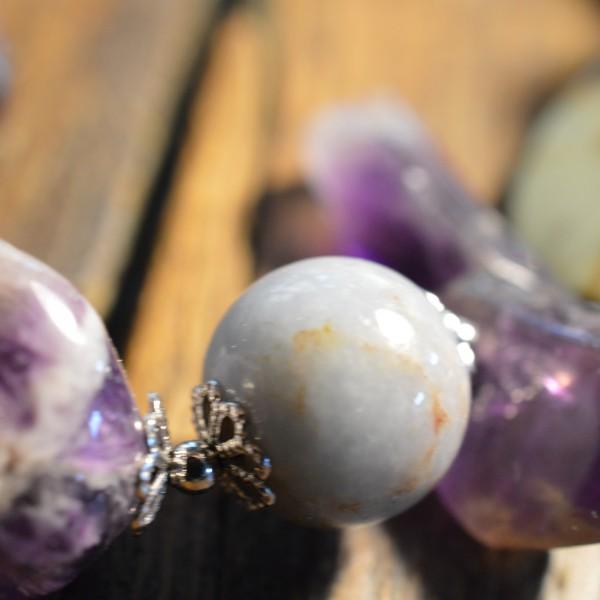 Jasper Amazonite Amethyst Bracelet