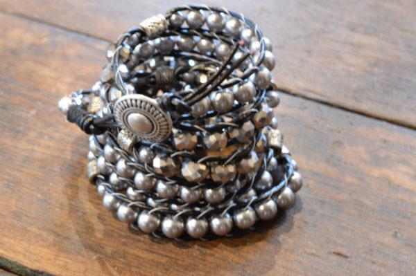 silver 5x wrap bracelet