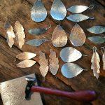 handmade metal earrings