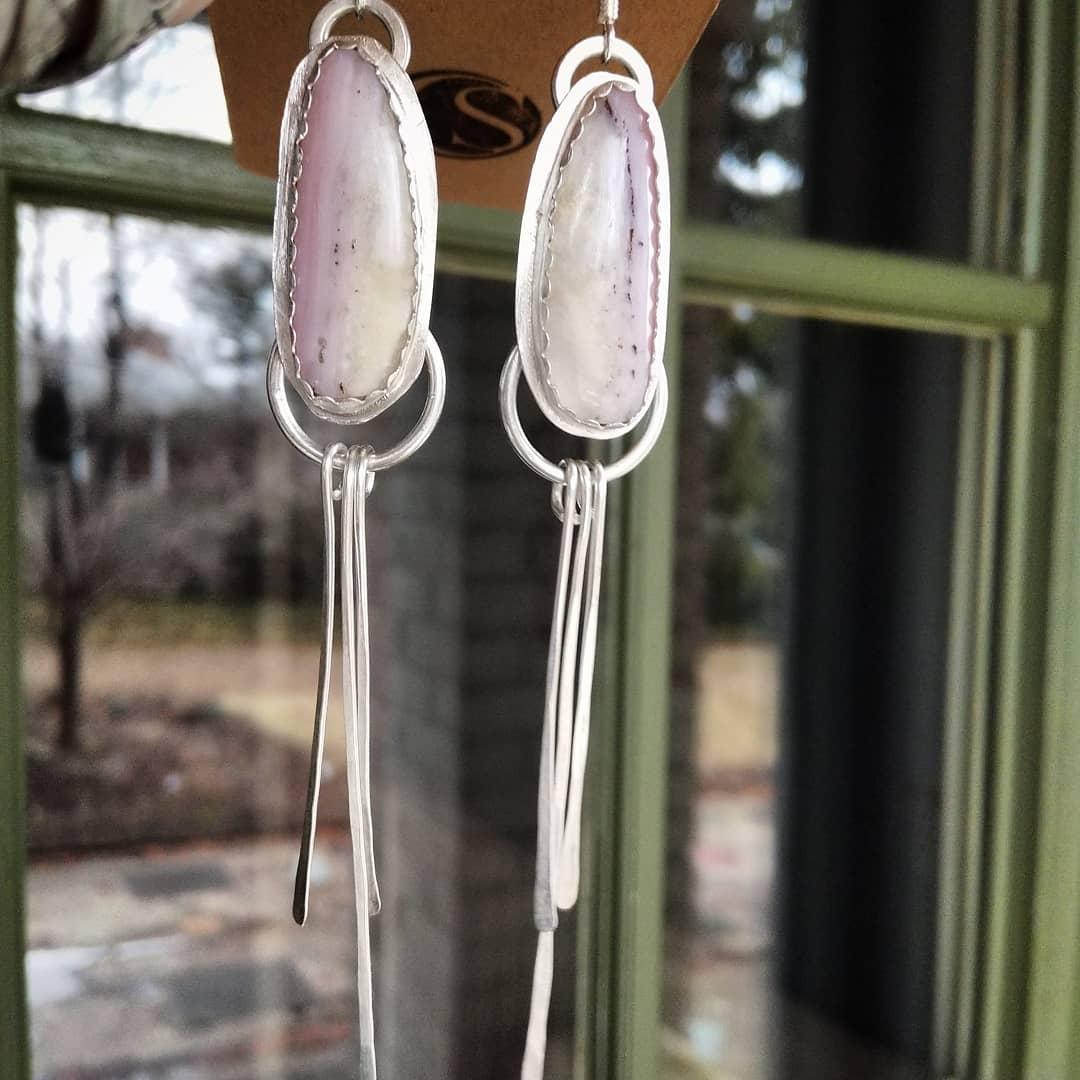 1bad5495d8de5 Pink Opal Fringe Earrings