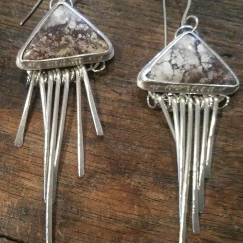 wild horse magnesite earrings