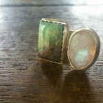 chrysoprase moonstone floating ring