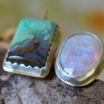 chrysoprase and moonstone ring